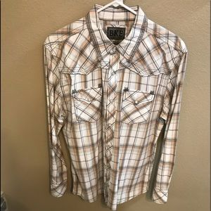 BKE Men's snap button shirt